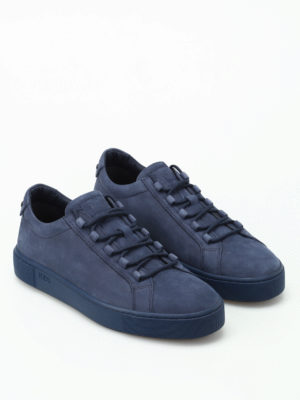 Tod'S: trainers online - Blue soft nubuck sneakers