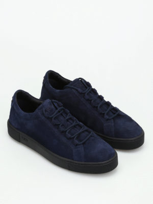 Tod'S: trainers online - Blue suede low top sneakers