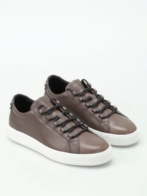 Tod'S: trainers online - Box sole brushed leather sneakers