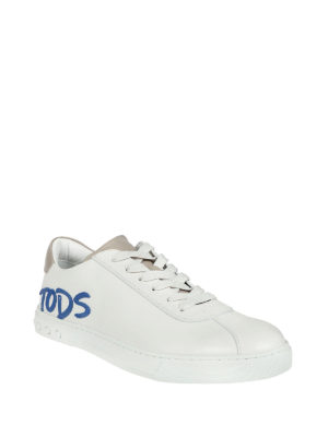 Tod'S: trainers online - Contrasting logo lettering sneakers