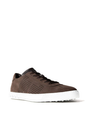 Tod'S: trainers online - Dark brown suede low top sneakers