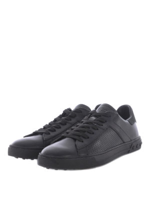 Tod'S: trainers online - Drilled sides leather sneakers