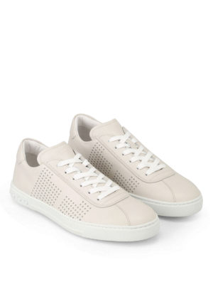 Tod'S: trainers online - Drilled sides soft leather sneakers