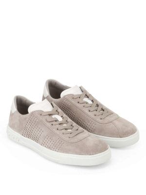 Tod'S: trainers online - Drilled sides suede sneakers