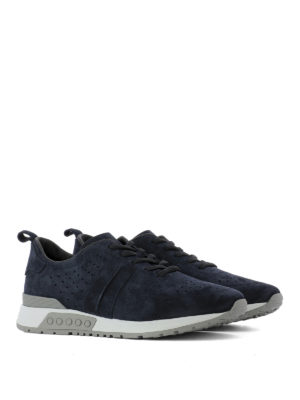 Tod'S: trainers online - Drilled suede sneakers