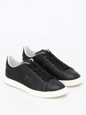 Tod'S: trainers online - Drilled T leather sneakers