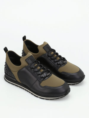 Tod'S: trainers online - Leather and scuba running sneakers
