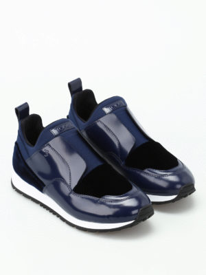 Tod'S: trainers online - Multi fabric slip on blue sneakers