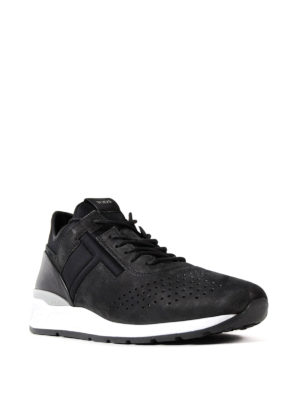 Tod'S: trainers online - Nubuck and scuba black sneakers