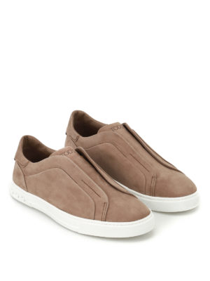 Tod'S: trainers online - Nubuck slip-ons