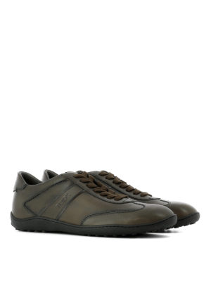 Tod'S: trainers online - Semiglossy vintage leather sneakers