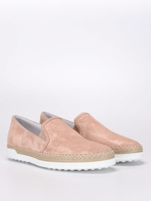 Tod'S: trainers online - Suede slip-ons