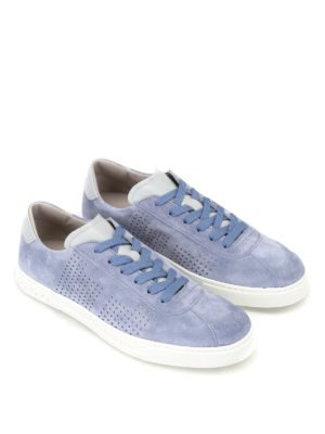 Tod'S: trainers online - Suede sneakers with drilled details
