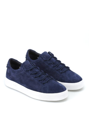 Tod'S: trainers online - Suede sneakers with rubber pebbles
