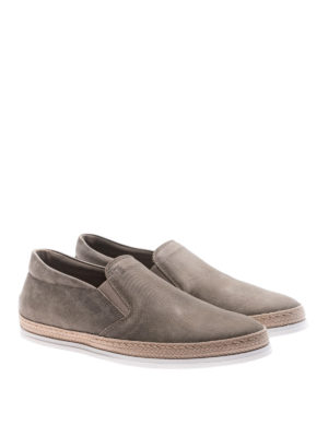 Tod'S: trainers online - Textured leather slip-ons