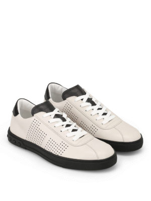 Tod'S: trainers online - Two-tone leather sneakers