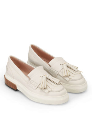 Tod'S: trainers online - White sporty loafers with tassels