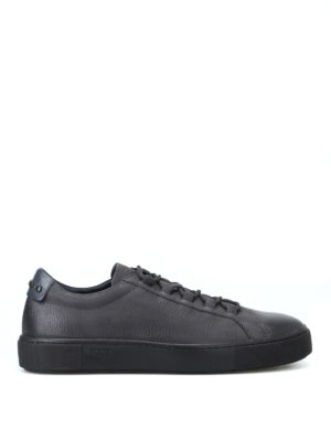 TOD'S: sneakers - Sneaker in pelle a grana sfumata