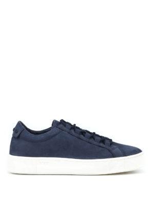 TOD'S: sneakers - Sneaker in morbido nabuk blu