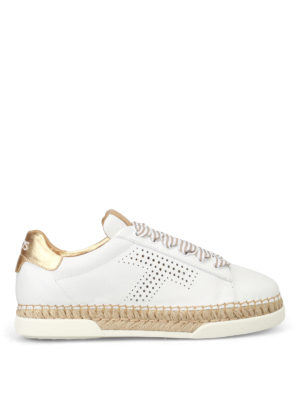 Tod'S: trainers - Striped lace leather sneakers
