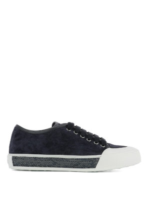 Tod'S: trainers - Suede and woven leather sneakers