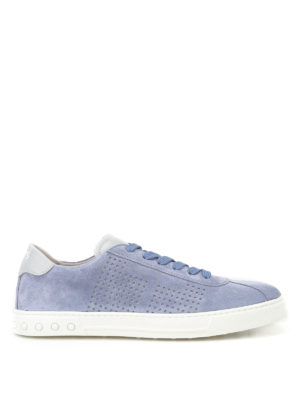 Tod'S: trainers - Suede sneakers with drilled details