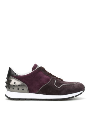 Tod'S: trainers - Suede sneakers with pebbles