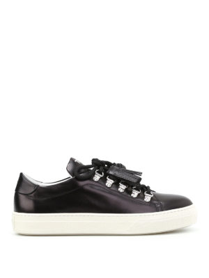 Tod'S: trainers - Tassel detail leather sneakers