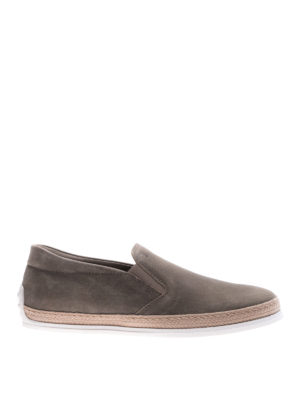 Tod'S: trainers - Textured leather slip-ons