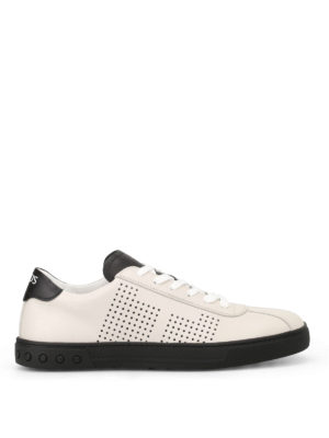 Tod'S: trainers - Two-tone leather sneakers