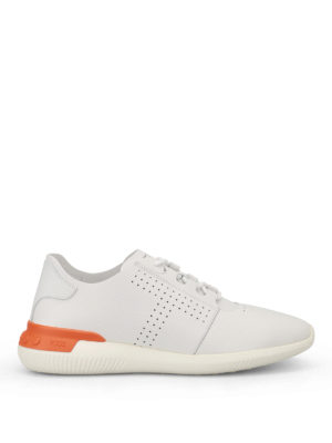 Tod'S: trainers - White smooth leather sneakers