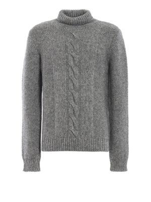 TOD'S: maglia a collo alto e polo - Dolcevita grigio in misto cotone e alpaca
