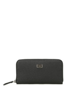 Tod'S: wallets & purses - Black textured leather wallet
