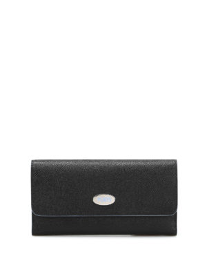 Tod'S: wallets & purses - Contrasting piping leather wallet