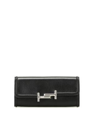 Tod'S: wallets & purses - Double T black leather wallet