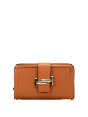 Tod'S: wallets & purses - Double T leather wallet