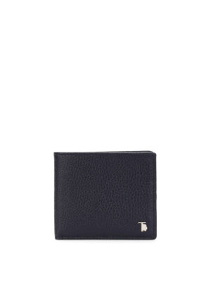 Tod'S: wallets & purses - Hammered leather bifold wallet