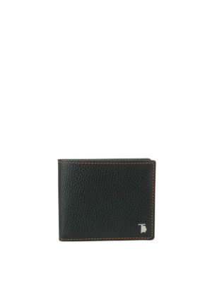 Tod'S: wallets & purses - Hammered leather billfold wallet