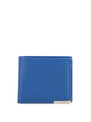 2a63319a7ef TOD'S: portafogli - Portafoglio bluette in pelle con portamonete. Tod'S.  Mid blue genuine leather bifold wallet