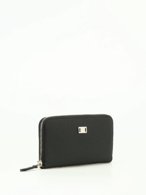 Tod'S: wallets & purses online - Black textured leather wallet