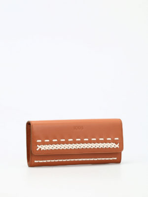 Tod'S: wallets & purses online - Braided detail flap wallet