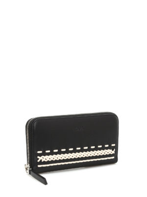 Tod'S: wallets & purses online - Braided detailed leather wallet