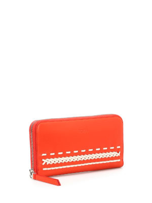 Tod'S: wallets & purses online - Braided detailed zip-around wallet