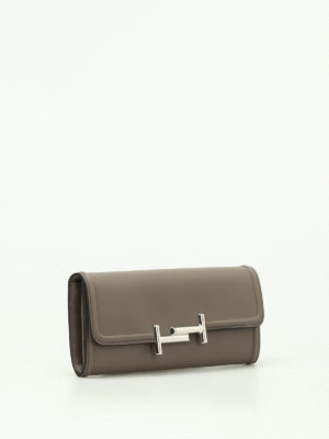 Tod'S: wallets & purses online - Double T grey leather wallet