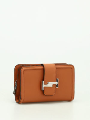 Tod'S: wallets & purses online - Double T leather wallet