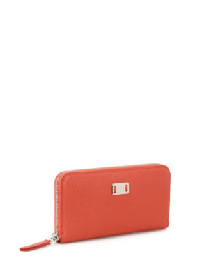 Tod'S: wallets & purses online - Orange leather continental wallet