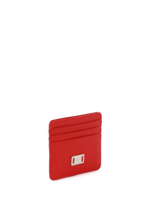 Tod'S: wallets & purses online - Red leather card holder