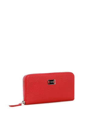 Tod'S: wallets & purses online - Red leather continental wallet