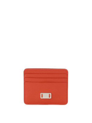 Tod'S: wallets & purses - Orange leather card holder