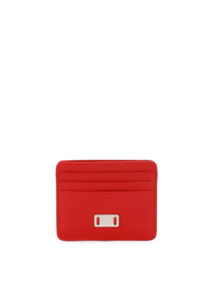 Tod'S: wallets & purses - Red leather card holder